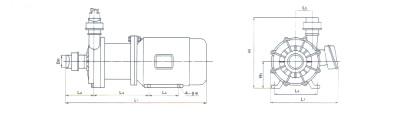 CQ磁力泵 外形尺寸图