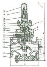 Y43H活塞式减压阀 外形尺寸图