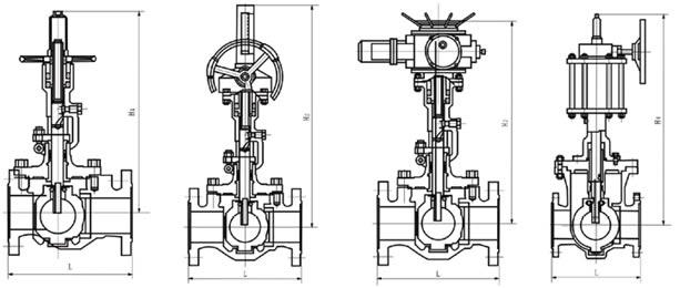 q47h轨道球阀 结构图