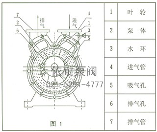 sz系列水环式真空泵 结构图1