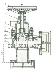 UJ44SM/H-16/25C/P 角式柱塞阀 结构图